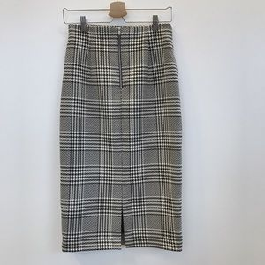 Zara Skirts - Plaid High Waist Pencil Skirt | Zara